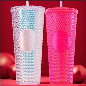 Starbucks Holiday BOTH Pink & Platinum Studded